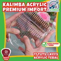 Kalimba Akrilik 17 Tuts Keys Kalimba Arcylic Premium Quality Karimba