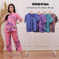 One Set Dayli Kaos / Setelan Kaos Batik / Baju Tidur Batik Wanita