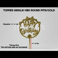 topper+arkilik+hbd+round+gold+dekor+cupcake+kue+tumpeng+puding+bento