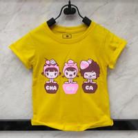 Baju anak tshirt anak perempuan 2 3 4 5 6 7 tahun murah katun casual