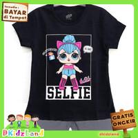 Setelan Baju/Kaos Anak Motif LOL Selfie Black 1-10 th - 1-2 tahun