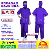 Baju OK, Baju OKA, Baju Perawat Cowok / Cewek Lengan Pendek