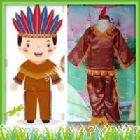 Kostum Anak Internasional Baju Adat Tradisional Negara Indian Boy