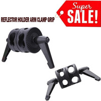 Clamp Boom dual Arm Support Light Stand holder Grip Head Double