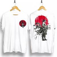 T-shirt pria / baju kaos samurai jepang / baju kaos warna putih
