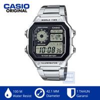 Casio Original AE-1200WHD-1AVDF AE1200 Royale Jam Tangan Pria Wanita