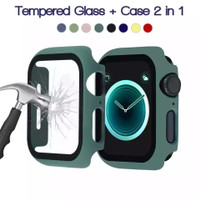 Case apple watch iwatch 40mm 42mm 38mm 44mm cover tempered glass