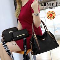 Tas Original GUDIKA 3175 set (3 in 1) tas Import - black