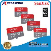 Sandisk Ultra A1 Microsd 120mb/s 32gb 64gb 128gb 256gb 512gb Resmi