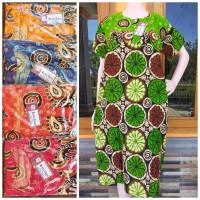 Daster rayon kancing depan busui tebal halus baju tidur batik murah