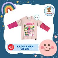 Kaos Anak Afrakids / Baju Anak / Atasan Anak Perempuan (AF227)