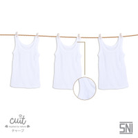 [CUIT] Kaos Dalam Anak Singlet Bayi - Paket White