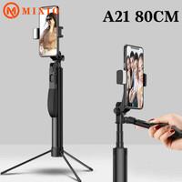MIXIO A21 Tongsis Bluetooth Led Stabilizer Gimbal Selfie stick 80CM