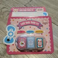 LITTLE BABY BALM SET Underarm Cupcake + Topping + Sweet Macaron Lip