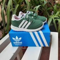 sepatu adidas anak cloudfoam green/sepatu anak dan bayi/sneakers anak
