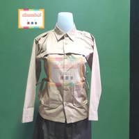 Seragam sekolah baju PRAMUKA Perempuan lengan panjang SD/SMP/SMA - 7 8