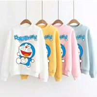 Baju Kaos Wanita Lengan Panjang Doraemon Best Seller Shirt - 2954