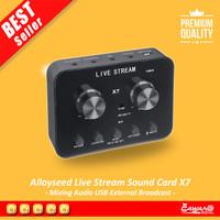 Audio USB External Soundcard Live Broadcast Microphone Headset - X7