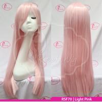 RS70 Pink | Wig long straight / lurus panjang / cosplay color