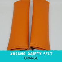 Sarung Safety Belt Mobil-orange