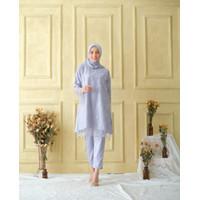 Atasan Wanita Muslim   Setelan Malva dan Celana   Satin Velvet