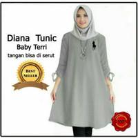 Diana Tunic, baju atasan wanita muslim jumbo, blouse tunic bigsize