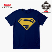 GROSIR Kaos Baju Superman Logo Men of steel Kaos Superhero - Karimake