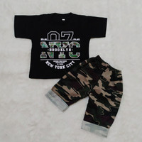 Setelan Baju Anak laki-laki usia pakai 0-3 tahun motif Army