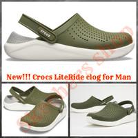 New Sepatu Sandal Pria Original Crocs Lite Ride for man Army