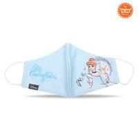 Masker Kain Anak Perempuan Disney Princess Cinderella Style C