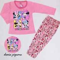 Piyama Anak Perempuan Lengan Panjang Umur 3-8 Tahun Motif Mickey