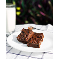 Dark Chocolate Brownie Vegan, Gluten-free, Refined sugar-free