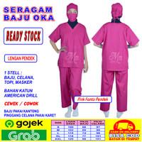 Baju OK, Baju OKA, Baju Jaga, Baju Perawat Cowok / Cewek Lengan Pendek
