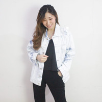 Atasan Baju Casual Wanita Premium - Carter Jeans Jacket NWclothing - Light denim