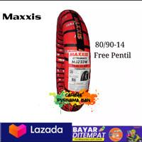 PAKET 1 BAN LUAR MAXXIS TUBLES 80/90-14 ALL MOTOR METIC