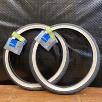 Ban sepeda Lipat BMX minivelo 20x1.75 Schwalbe putih whitewall