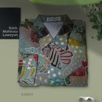 Kemeja Batik Tulis Abstrak Super Maestro KJSM13