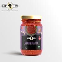 Sambal Bajak Hot Cap Ibu 120g (Botol Mini)
