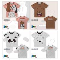 301KIDS Kaos Baju T-Shirt Anak Kaos We Bare Bears Kartun Grizz Premium