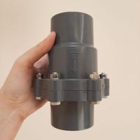 SpringCheckvalve Check valve PVC KDJ 1 1/2 inch 1.5 in inch Tusen klep
