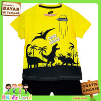 Setelan Baju/Kaos Anak Motif Dinosaurus UFO 1-10 th