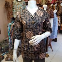 Blouse Atasan Batik Wanita Batik Kerja/Kantoran/Santai/ M L XL XXL Y97