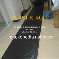 Plastik gulung ban motor/packing ban motor 100 meter
