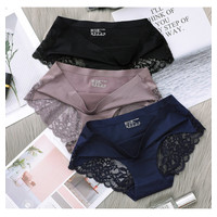 Celana Dalam Wanita Seamless Bahan Fabric Ice silk Sexy