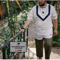 Premium Kurta jumbo Lengan pendek by Baihaqi / gamis pria ekstra besar - soft