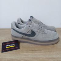 Sepatu Nike Air force 1 Low Reigning Champ Suede Grey Black