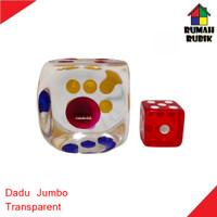1PC Dadu JUMBO Bening Transparan Ukuran 3cm untuk Game / Pesta