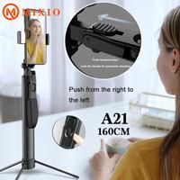 MIXIO A21 1.6M Tongsis Bluetooth Tripod Stabilizer Gimbal Selfie stick