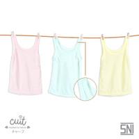 [CUIT] Kaos Dalam Anak Singlet Bayi - Paket 3 Color Renda