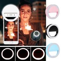 Lampu Selfie Ring Light HP Jepit - Lampu LED Ringlight Mini TikTok